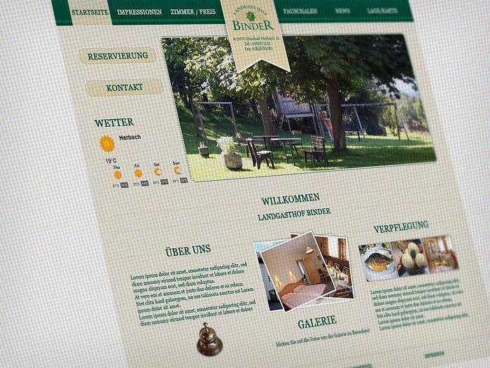 Webdesign Gasthaus Landgasthof