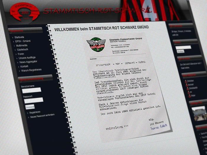 Webdesign Stammtisch Rot Schwarz