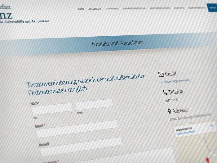 Webdesign Frauenarzt