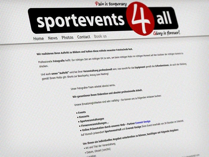 Webdesign Sportfotos
