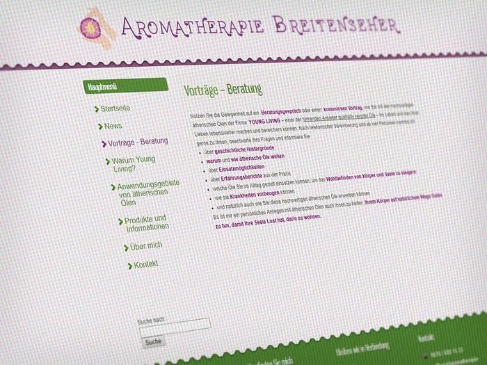 Webdesign farbenfroh