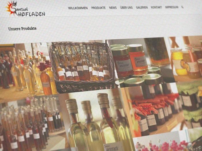 Webdesign Hofladen Samsuri