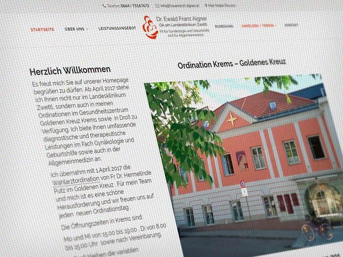Webdesign Dr. Ewald Aigner