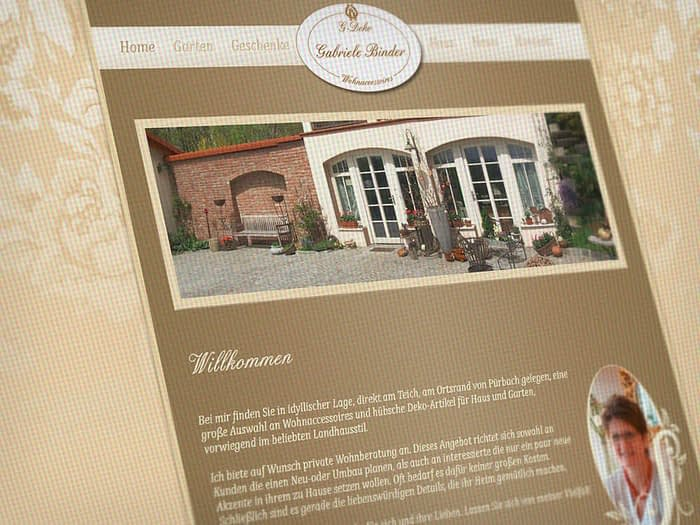 Webdesign Wohnaccessoires